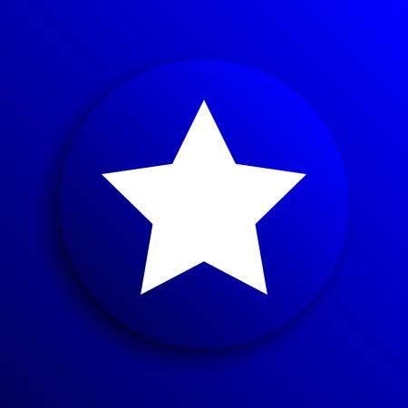 preference: Favorite  icon. Internet button on blue background.