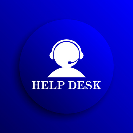 helpdesk: Helpdesk icon. Internet button on blue background.