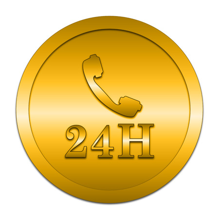 phone button: 24H phone icon. Internet button on white background.