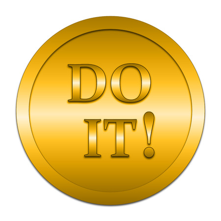 just in time: Do it icon. Internet button on white background.