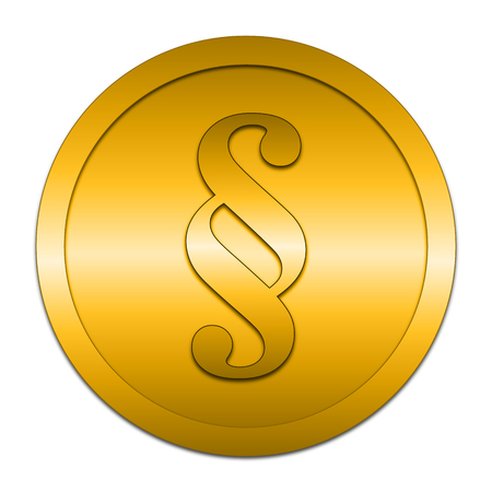 golden rule: Paragraph icon. Internet button on white background. Stock Photo
