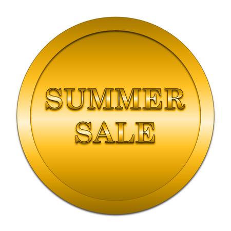 internet background: Summer sale icon. Internet button on white background.