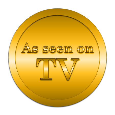 hype: As seen on TV icon. Internet button on white background. Stock Photo