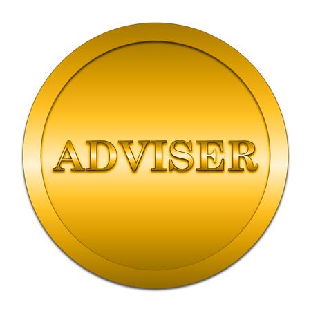 adviser: Adviser icon. Internet button on white background. Stock Photo