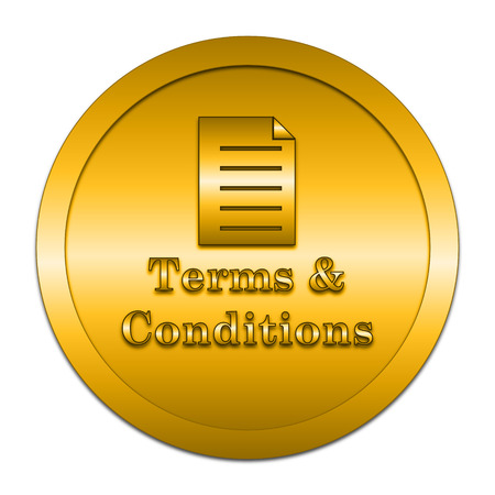 term and conditions: Terms and conditions icon. Internet button on white background.