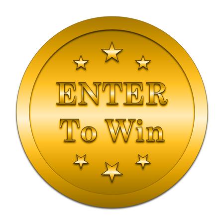 Enter om het pictogram te winnen. Internet-knop op witte achtergrond.