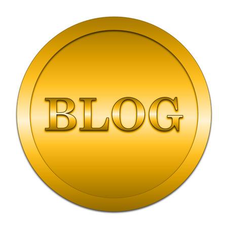 informing: Blog icon. Internet button on white background.