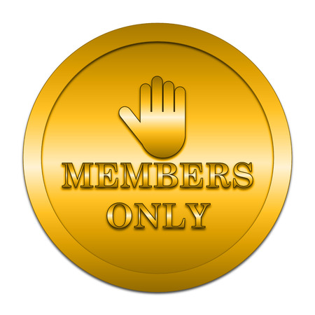 closed society: Members only icon. Internet button on white background.