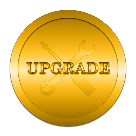 interconnect: Upgrade icon. Internet button on white background.