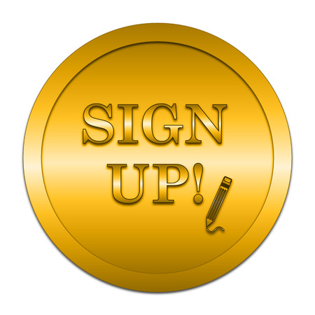 subscribing: Sign up icon. Internet button on white background.