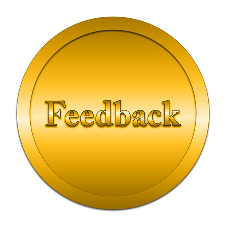 feedback button: Feedback icon. Internet button on white background.