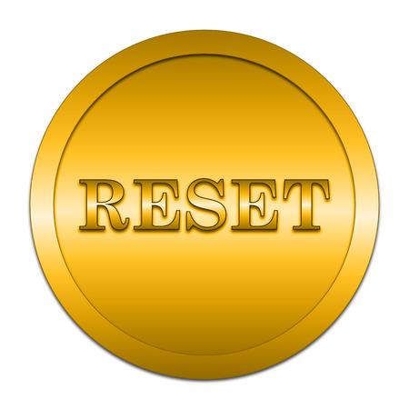 re design: Reset icon. Internet button on white background.