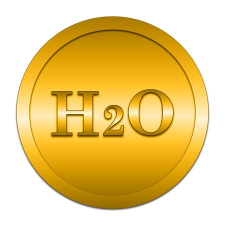 h2o: H2O icon. Internet button on white background.
