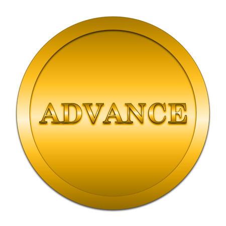advance: Advance icon. Internet button on white background.