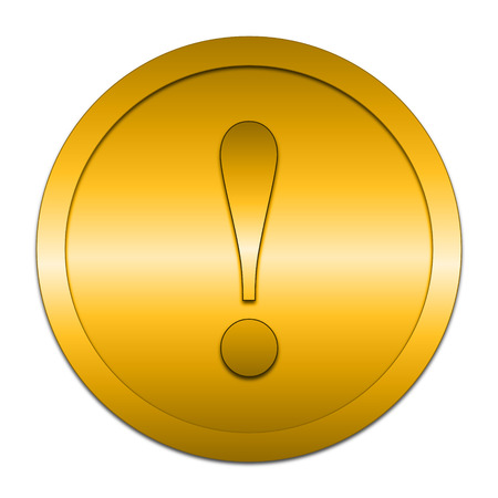 attention icon: Attention icon. Internet button on white background.