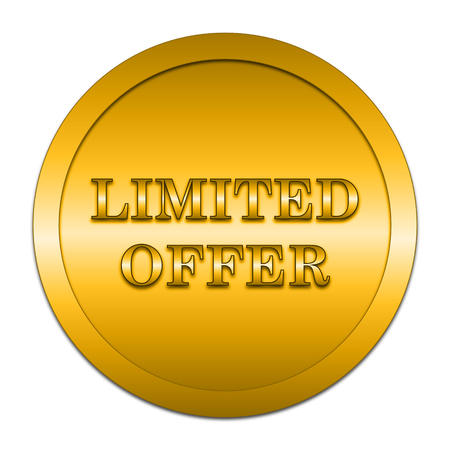 gold rush: Limited offer icon. Internet button on white background.