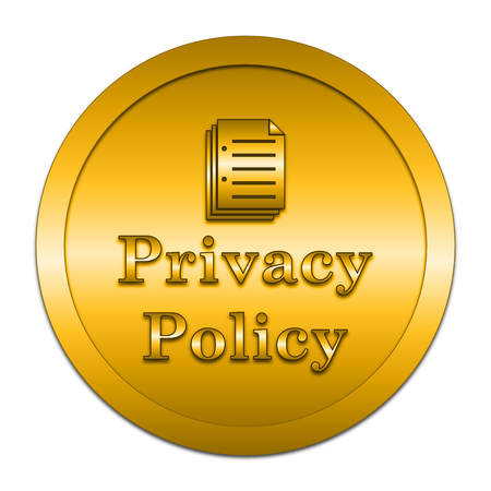 golden rule: Privacy policy icon. Internet button on white background. Stock Photo