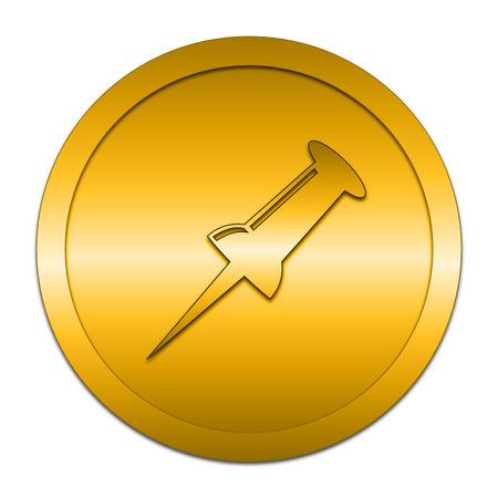 prick: Pin icon. Internet button on white background.