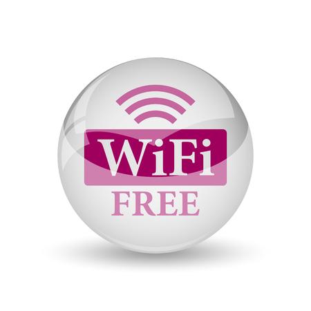 email icon: WIFI free icon. Internet button on white background.