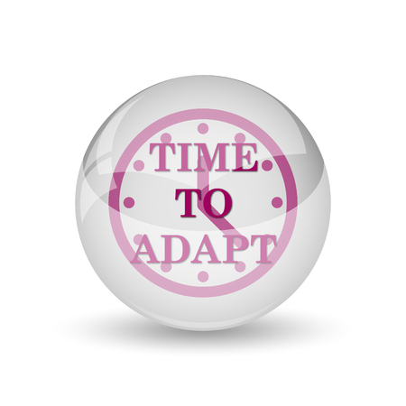 adapting: Time to adapt icon. Internet button on white background. Stock Photo