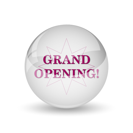 inauguration: Grand opening icon. Internet button on white background.