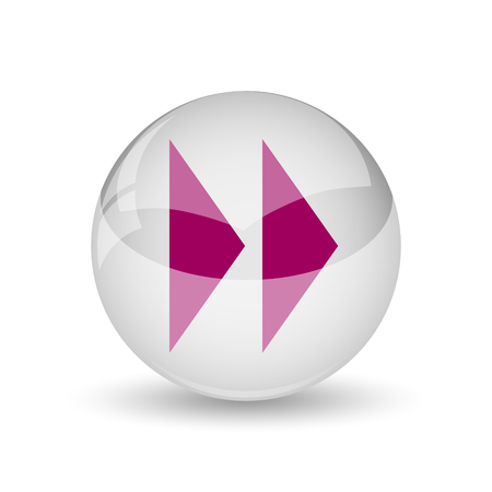 mauve: Fast forward sign icon. Internet button on white background.