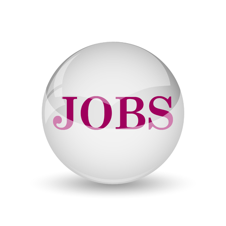 finding: Jobs icon. Internet button on white background.