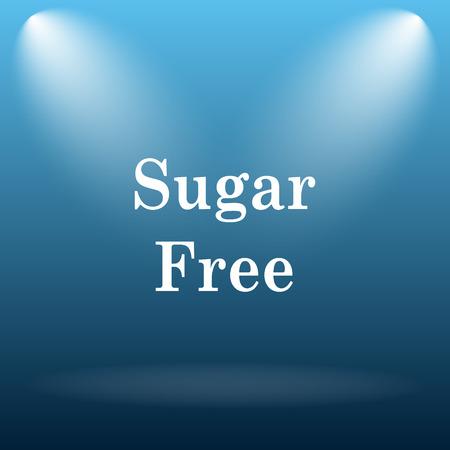 sweetener: Sugar free icon. Internet button on blue background.