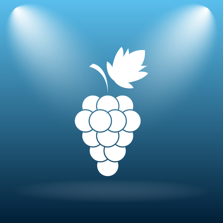 vitamin store: Grape icon. Internet button on blue background. Stock Photo
