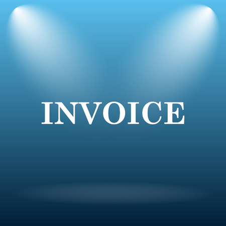 accounts payable: Invoice icon. Internet button on blue background. Stock Photo