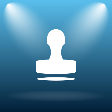 qualify: Stamp icon. Internet button on blue background.
