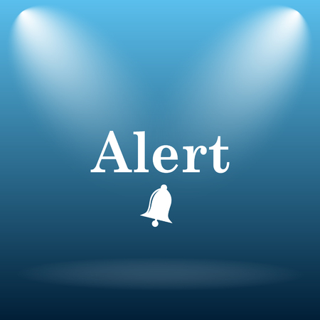 peril: Alert icon. Internet button on blue background.