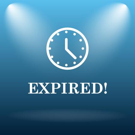 expire: Expired icon. Internet button on blue background. Stock Photo