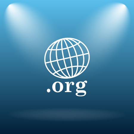 org: .org icon. Internet button on blue background. Stock Photo