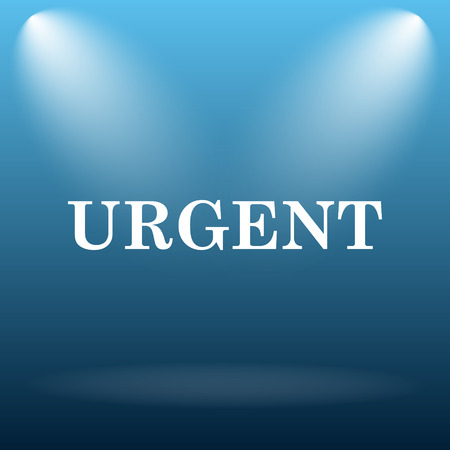 promptness: Urgent icon. Internet button on blue background.