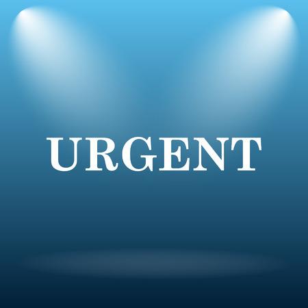 received: Urgent icon. Internet button on blue background.