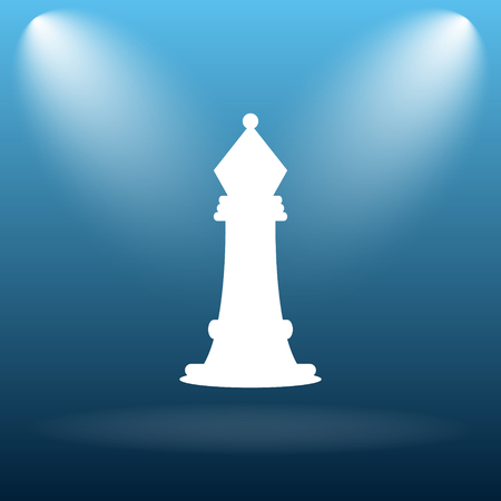 capturing: Chess icon. Internet button on blue background. Stock Photo