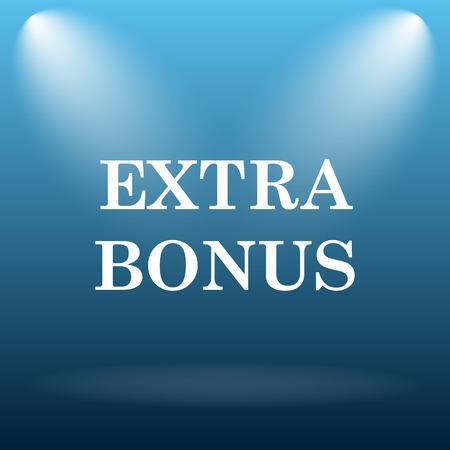Extra bonus icon. Internet button on blue background.