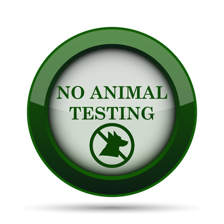 laboratory label: No animal testing icon. Internet button on white background.