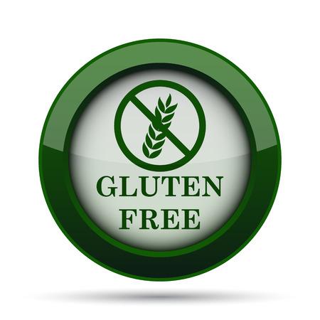 preservatives: Gluten free icon. Internet button on white background.