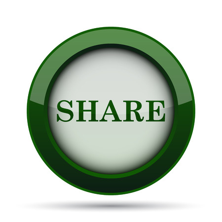 share icon: Share icon. Internet button on white background.
