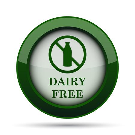 lactose intolerant: Dairy free icon. Internet button on white background. Stock Photo