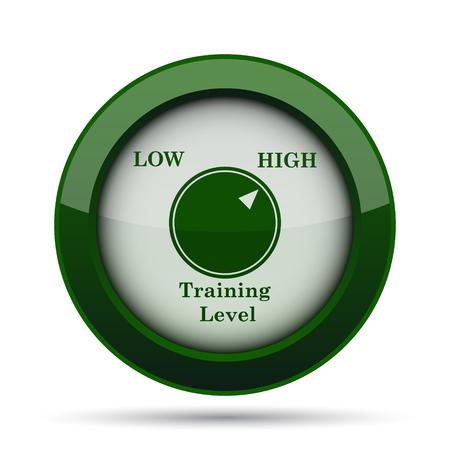efficacy: Training level icon. Internet button on white background. Stock Photo