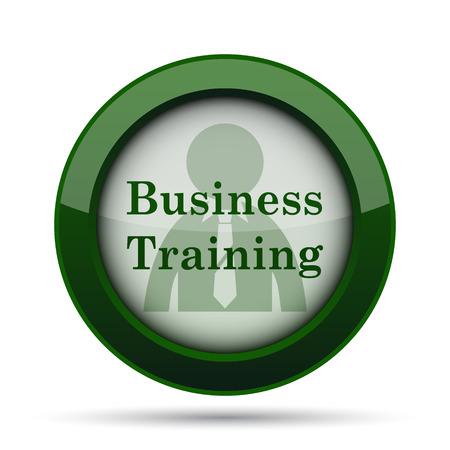 idea hurdle: Business training icon. Internet button on white background.