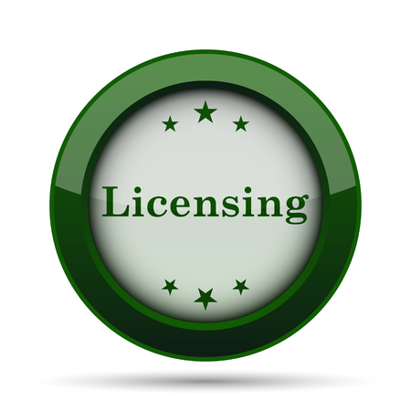 licensing: Licensing icon. Internet button on white background.