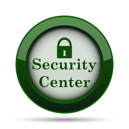 Security center icon. Internet button on white background.