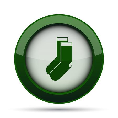 hosiery: Socks icon. Internet button on white background.