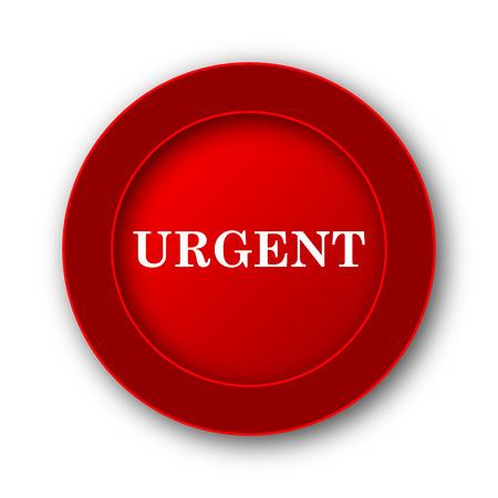 received: Urgent icon. Internet button on white background.
