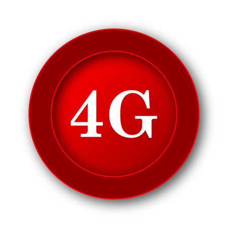 tv tower: 4G icon. Internet button on white background.