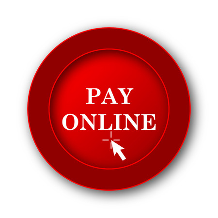 pay: Pay online icon. Internet button on white background.